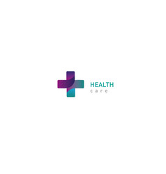 bright logo on medicine and health cross vector image