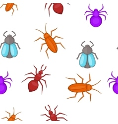 Bugs pattern cartoon style vector