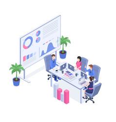 business analytics training isometric vector image