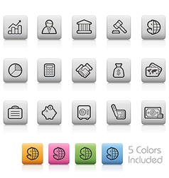Business-and-Finance Outine-Button vector image