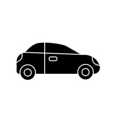 car sedan vehicle icon black vector image