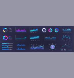 Color dashboard ui ux kit vector