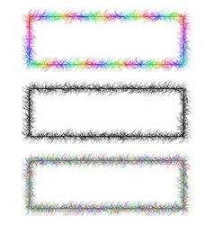 Colorful and monochrome banner frame design set vector image