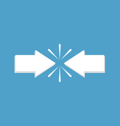 Conflict interest arrows relationship solution vector