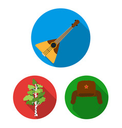 country russia travel flat icons in set vector image