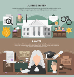 Court system banners set vector