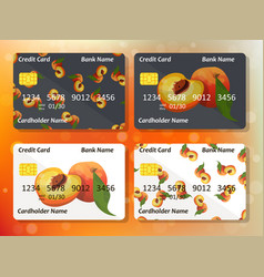 credit card design vector image