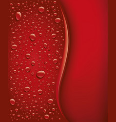 Dark red bubbles droplets background vector