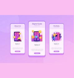 Digital city guide and smart city concept app ui vector