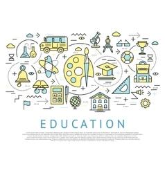 Education Horizontal Concept vector image