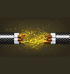 electric break cable electrician rubber vector image
