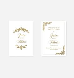 elegant gold damask frame vector image