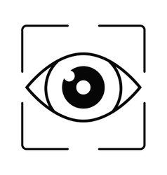 Eye emblem icon image vector