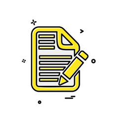 file icon design vector image