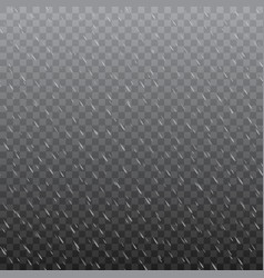 Foggy rainy weather in transparent background vector
