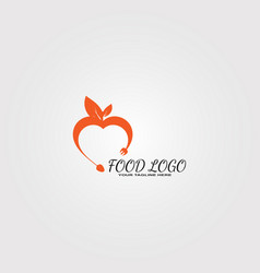 food logo template logo for restaurant business vector image