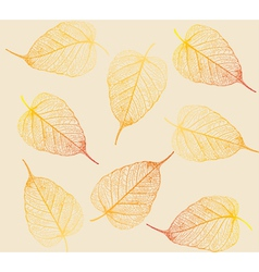 Fresh colorful leaves background vector image
