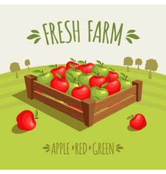 Fresh farm vector image