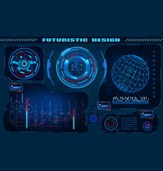 Futuristic graphic interface hud design vector