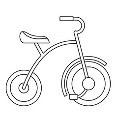 girl tricycle icon outline style vector image
