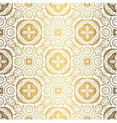 golden background luxury seamless pattern elegant vector image