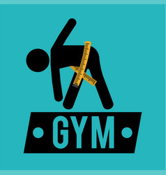 Gym measuring tape lose weight vector