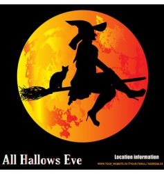 halloween moon vector image