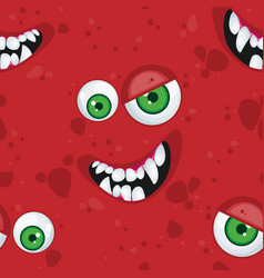 halloween seamless pattern with cartoon vector image