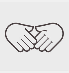 Hand shake gesture symbol agreement vector
