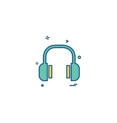 headset icon design vector image