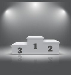 Illuminated realistic sport winners 3d podium vector image