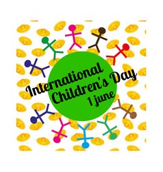 international children s day concept vector image