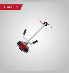 isolated lawn mower flat icon grass-cutter vector image