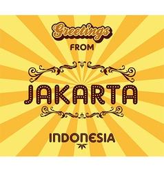 Jakarta background vector