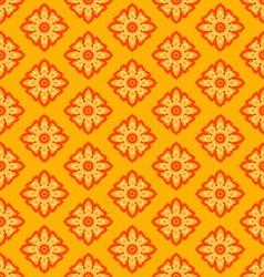 laithai flower texture yellow pattern vector image