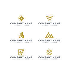 logo bundle vector image
