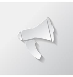 Loudspeaker icon Microphone symbol vector image