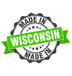 Made in wisconsin round seal vector