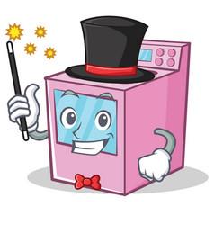 Magician gas stove character cartoon vector