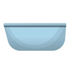 modern bathtub icon cartoon style vector image