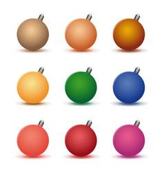 multicolored christmas ball set on white vector image