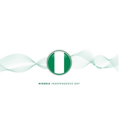 Nigeria circle flag vector