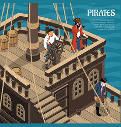 pirates isometric vector image