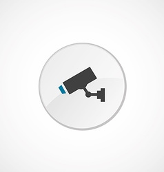 Security camera icon 2 colored vector