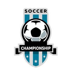 Soccer championship logo vector
