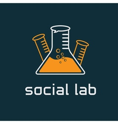 social lab concept design template vector image