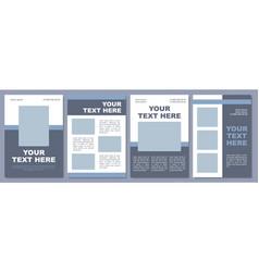 Social media marketing campaign brochure template vector