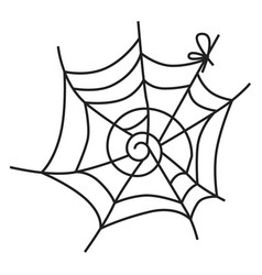spider web icon simple style vector image