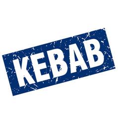 square grunge blue kebab stamp vector image