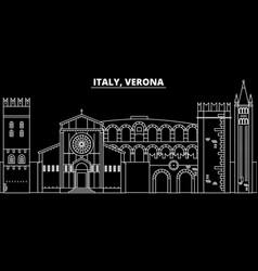 verona silhouette skyline italy - verona vector image